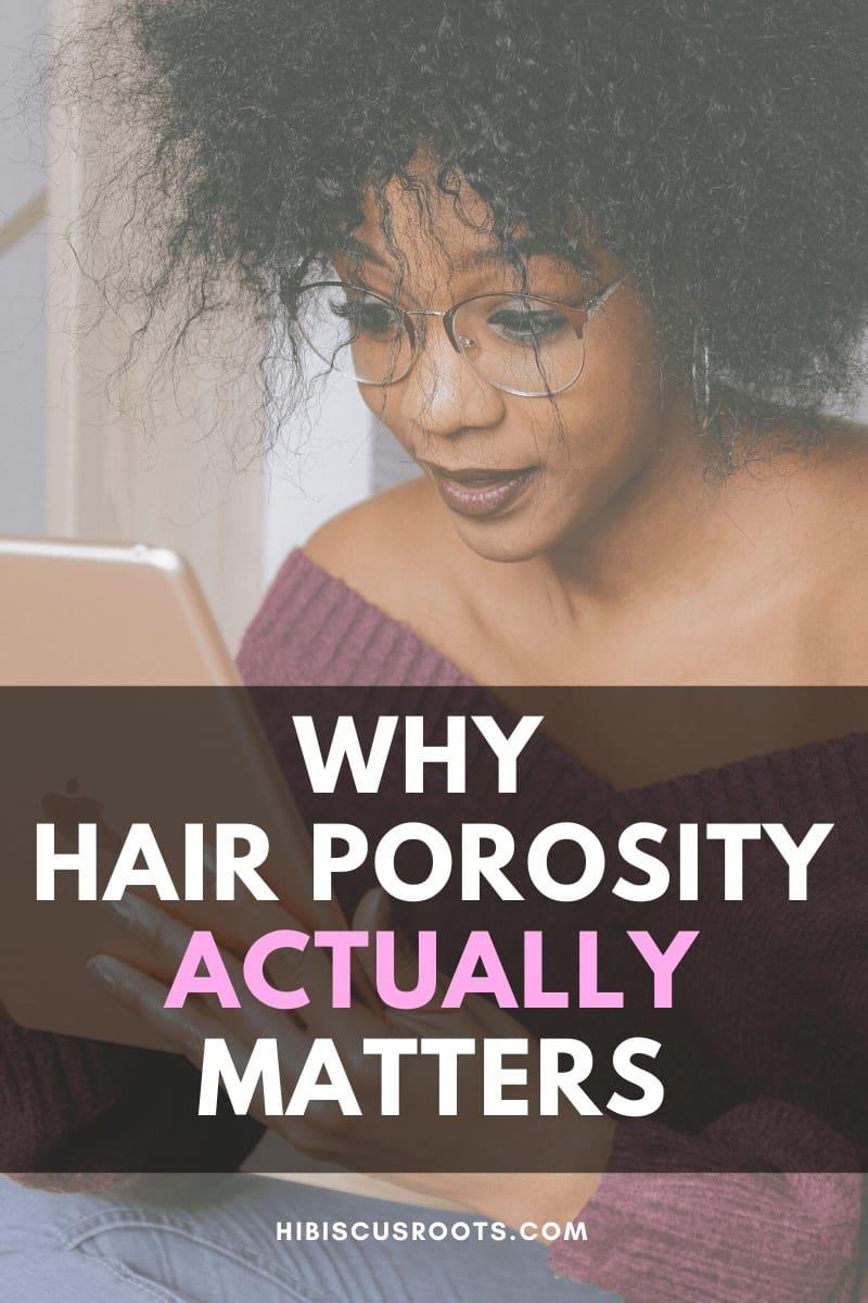 low porosity and high porosity hair