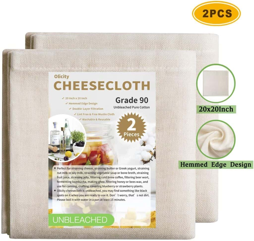 cheesecloth for straining