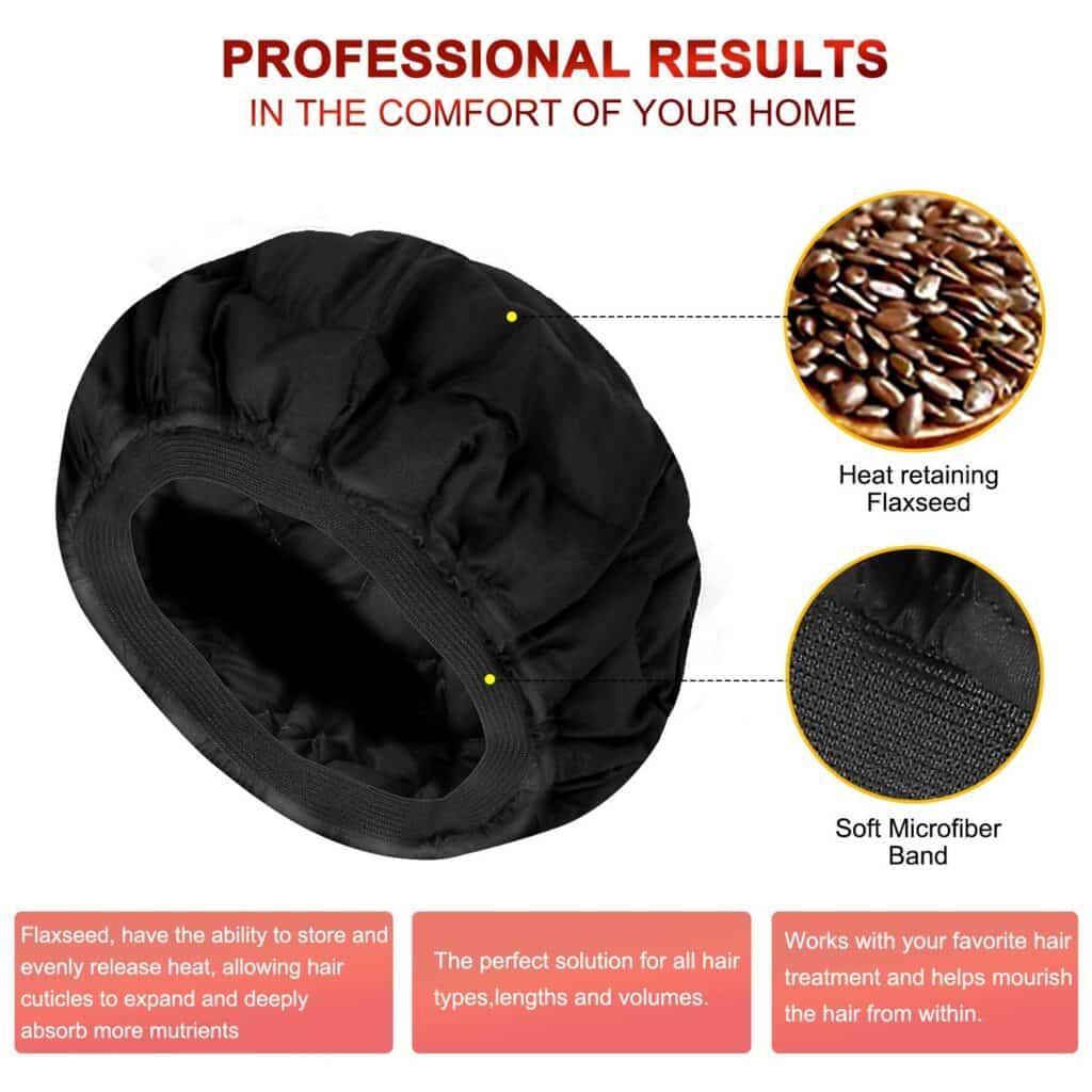 flaxseed heating cap