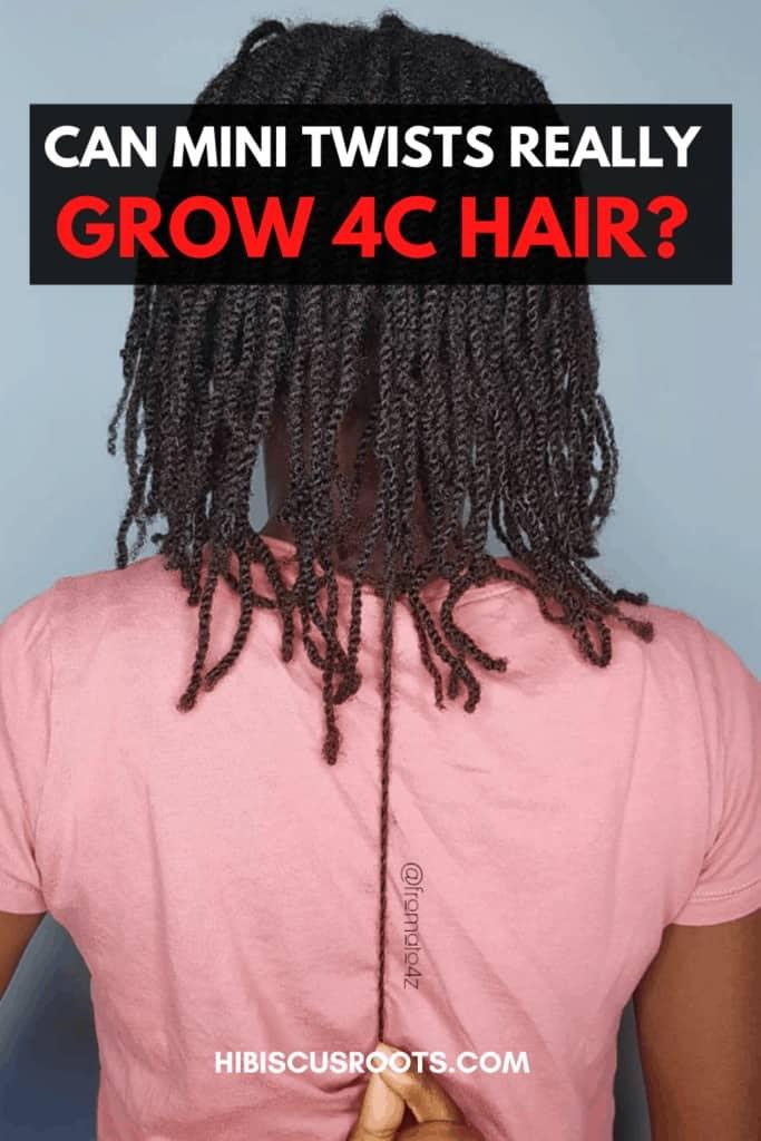 how mini twists grow 4c hair