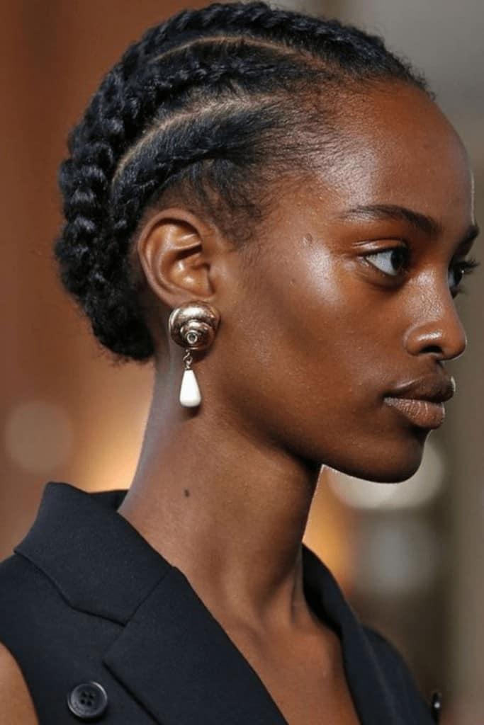 elegant updos for natural hair