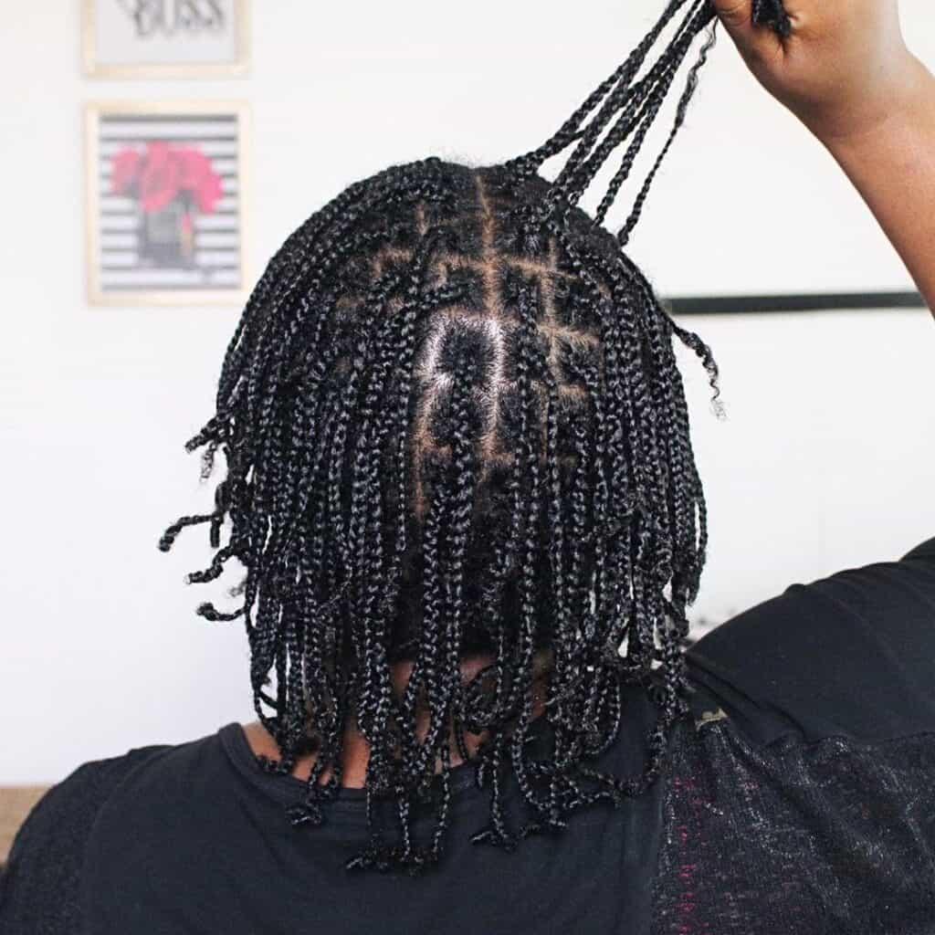 mini braids on natural hair